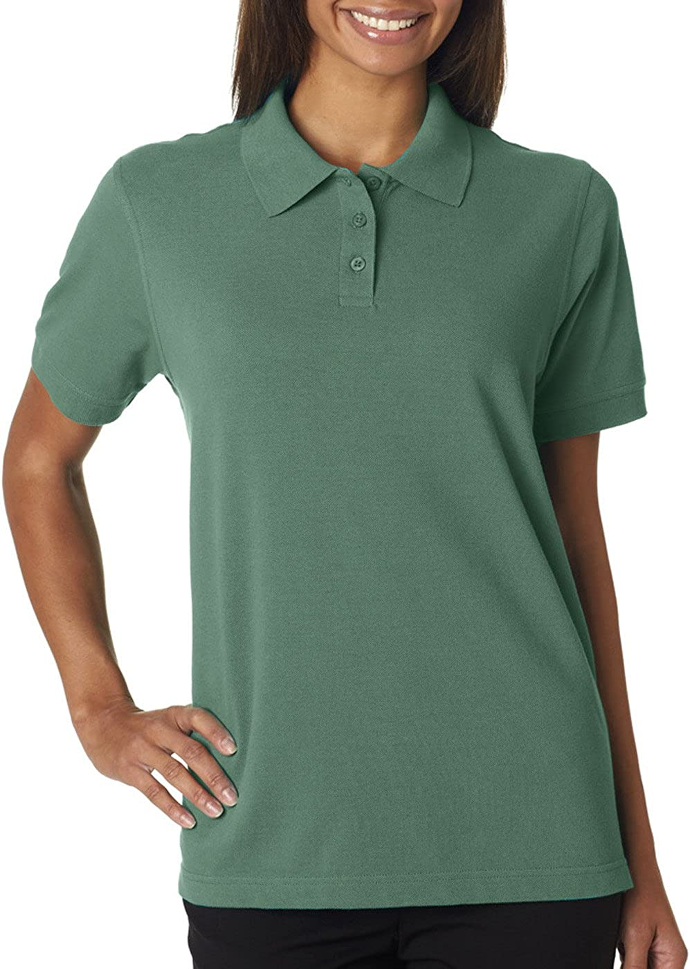 UltraClubs Womens Classic Pique Polo