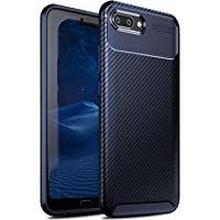 iBetter Coque Honor 10, [Souple Etui de Protecteur] Nouveau modèle Shock Absorption Coquille arrière Souple, Housse Etui TPU Silicone Coque en Silicone pour Honor 10 Smartphone(Bleu)