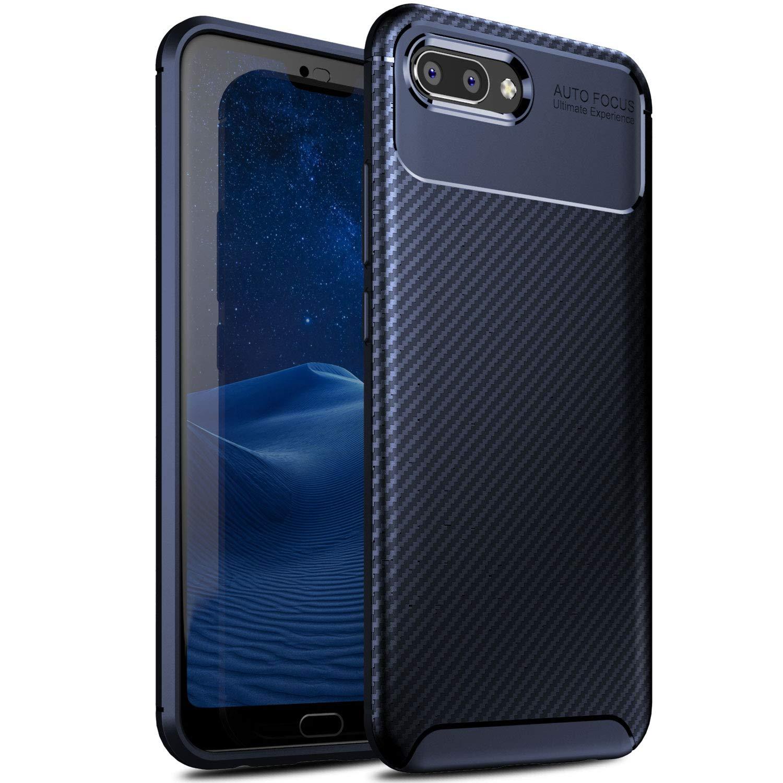 iBetter Coque Honor 10, [Souple Etui de protecteur] Nouveau modè le Shock absorption Coquille arriè re Souple, Housse Etui TPU Silicone Coque en silicone pour Honor 10 Smartphone(noir)