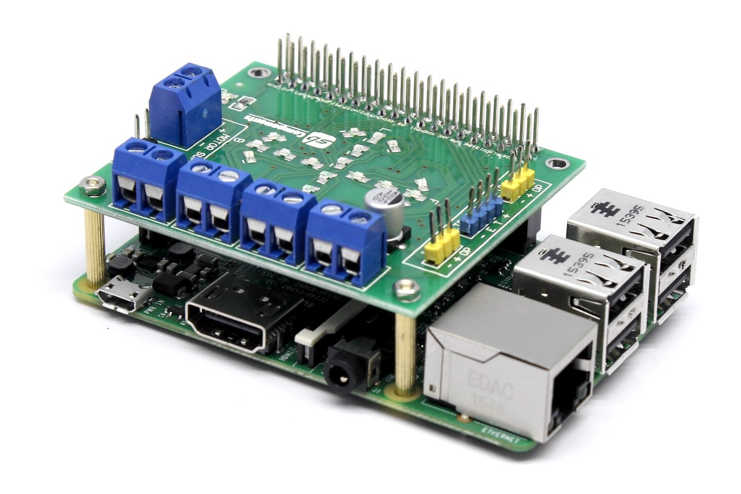 Sb New Motorshield For Raspberry Pi 321 And Zero This Expansion Wiringpi Cpu Usage Board Can Control Up To 4 Motors Or 2 Stepper Motor Ir Sensors A Single Ultrasonic