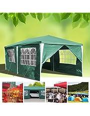 huigou Carpas 3x6M cenadores Jardin Carpa Impermeables Aire Libre Gazebo Incl. 6 Lados Removibles marquesina