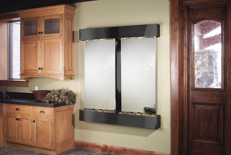 Adagio Cottonwood Falls Fountain w/ Silver Mirror in Blackened Copper Finish