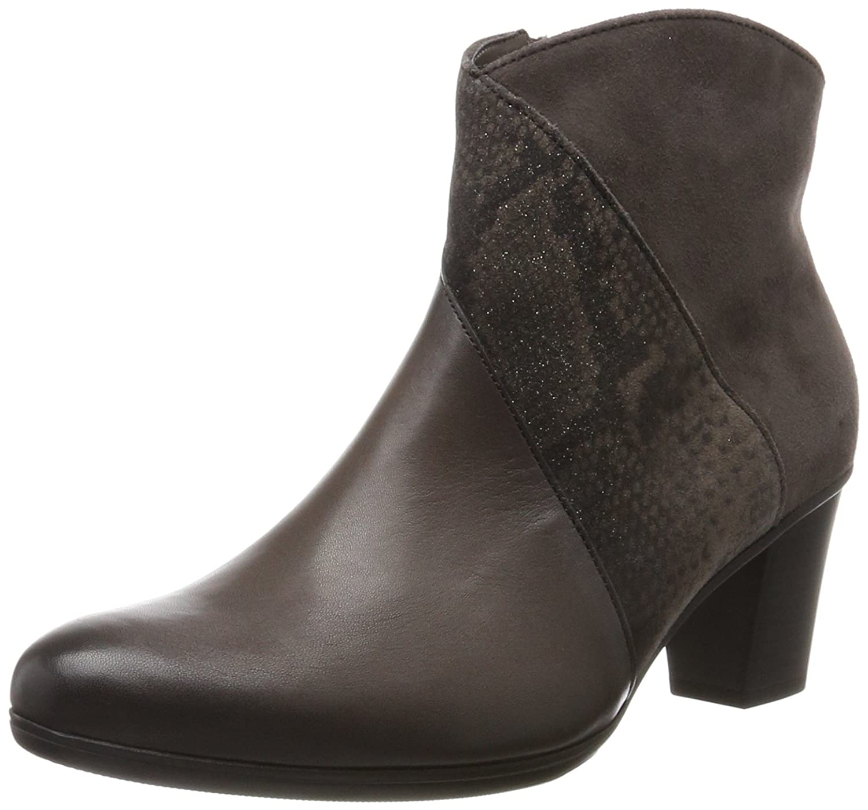 Gabor Damen Basic Stiefel  38.5 EU|Grau (Zinn (Effekt)(mic))