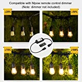 Mpow 49ft Led Outdoor String Lights, Heavy-Duty