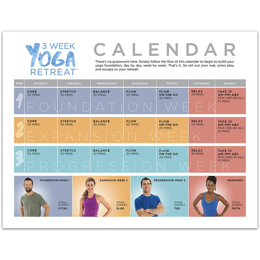 image relating to Ddp Yoga Schedule Printable referred to as Beachbody 3 7 days Yoga Retreat Work out Software Find out Yoga at Residence 30 Minutes Or Significantly less