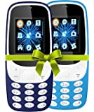 IKALL K3310 4.57 cm, 1.8-inch Mobile Phone Combo (Dark and Sky Blue)