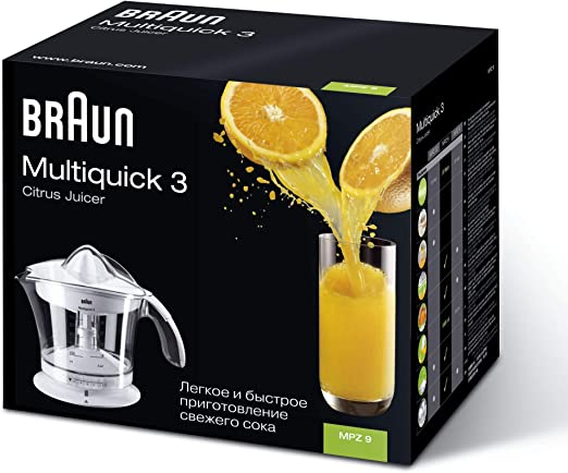 Braun Multiquick 3 MPZ9 Exprimidor Eléctrico, Blanco y ...