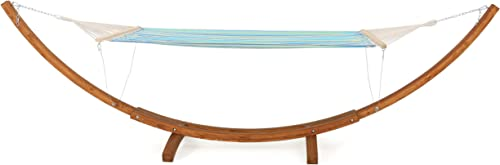 Christopher Knight Home Weston Larch Wood Canvas Hammock w Stand