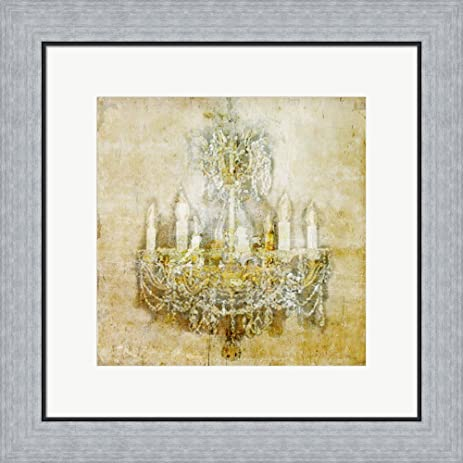 Amazon.com: Chandelier 1 by Symposium Design Framed Art Print Wall ...