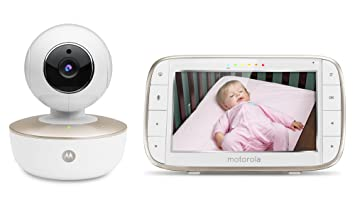 motorola wifi baby monitor. motorola mbp855connect portable 5-inch screen video baby monitor with wi-fi and free wifi i