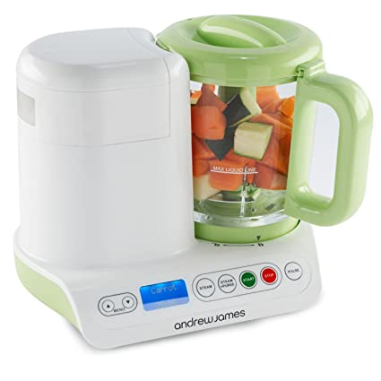 Andrew James Digital Baby Food Maker Compact Blender And