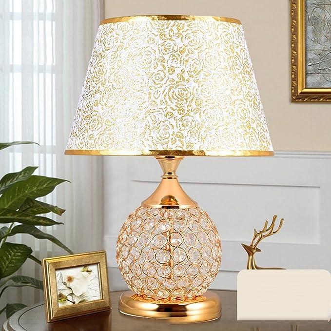 Amazon.com: CJH - Lámpara de mesa, color oro rosa, para ...