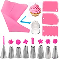 Límite-MX 14 Piezas kits de Boquillas para Manga Pastelera , Decoración de Pasteles Incluyendo 8 Boquillas Reutilizables…