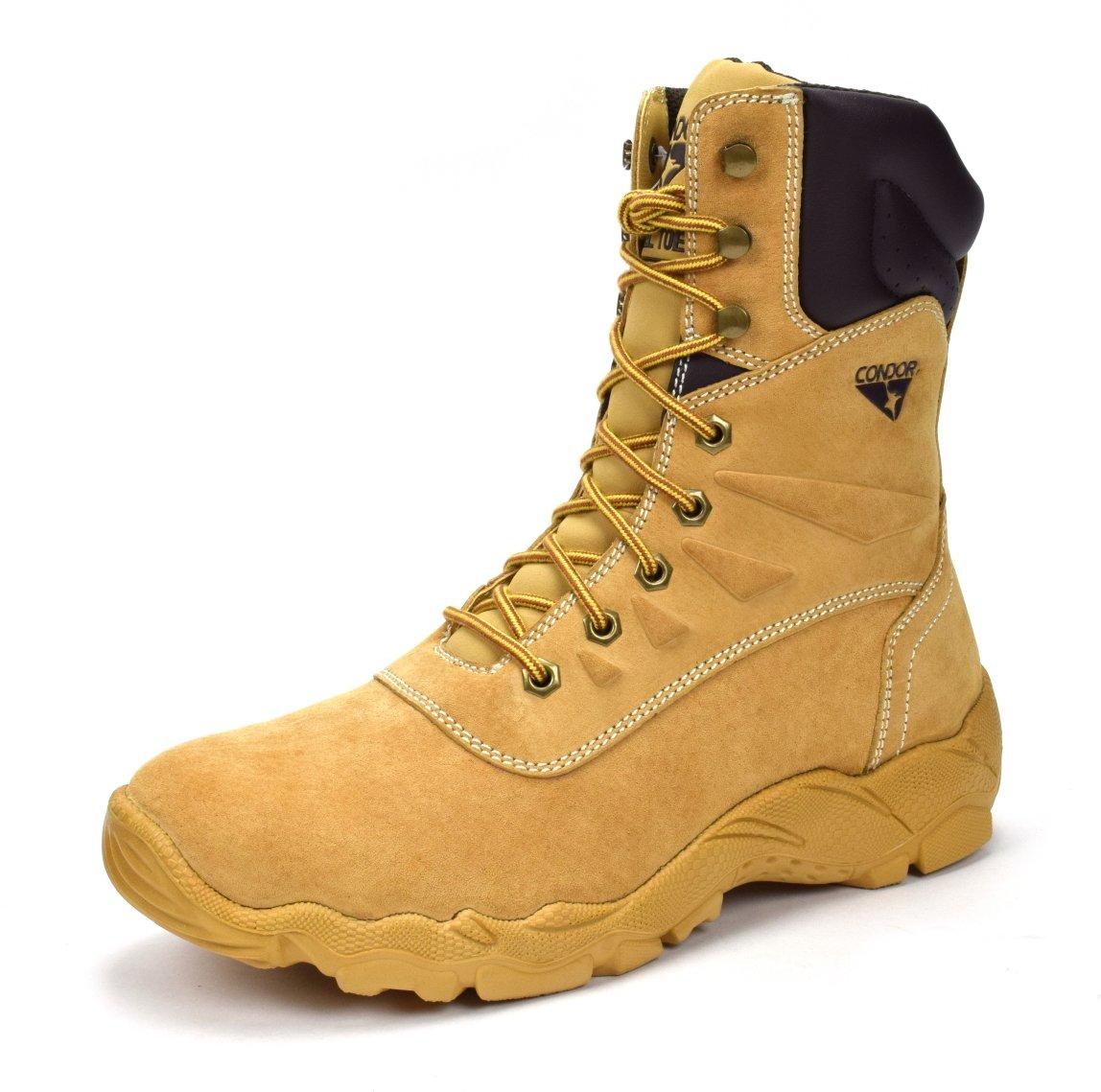 CONDOR Dakota Men's 8'' Steel Toe Work Boot - Tan, Size 10 E US