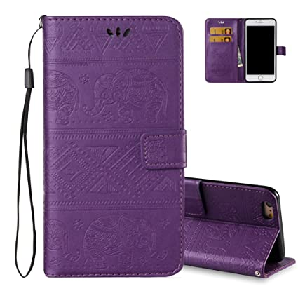 Funda Iphone 8 Plus Púrpura Cartera Estilo Libro, ...