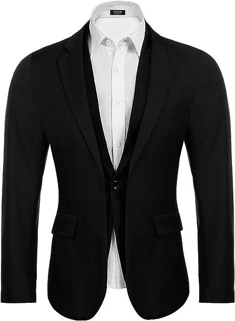 Amazon.com: Coofandy - Blazers para hombre, estilo informal ...
