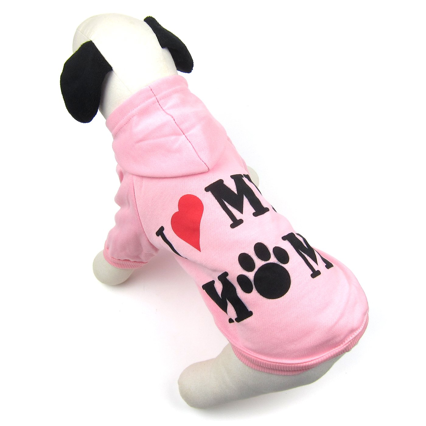 Alfie Pet by Petoga Couture - Bonanza Hoodie Mommy - Color: Pink, Size: Large