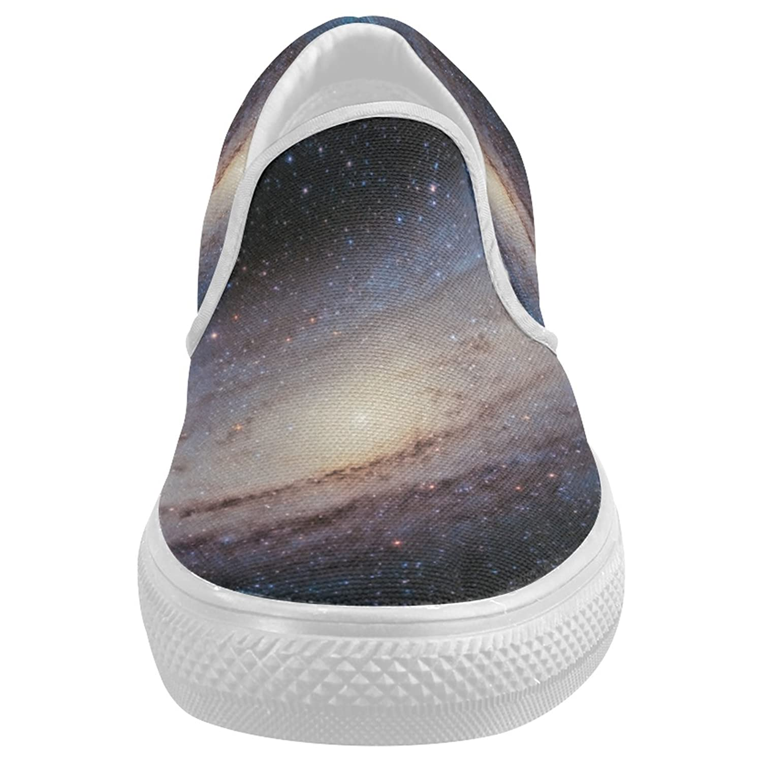 CASECOCO Andromeda Galaxy Universe Canvas Women's Slip On Shoes Fashion Sneakers