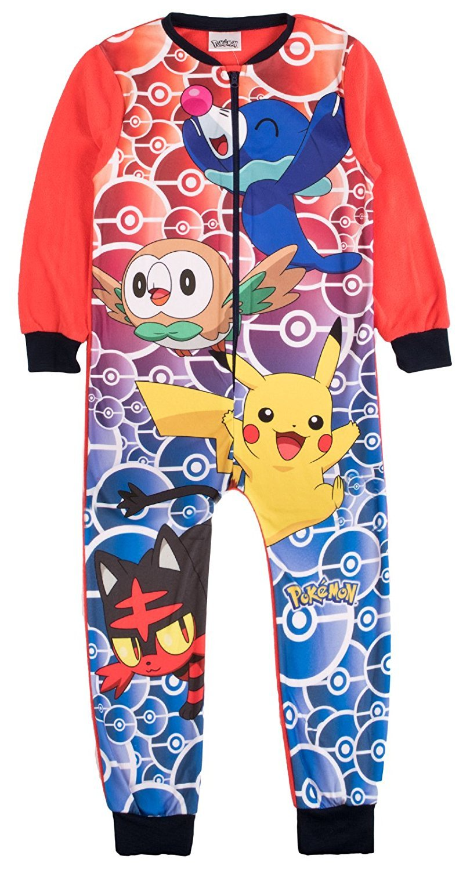 F4S® Unisex Kids Boys Fleece Character Print Onesie Pyjamas PJ's Sleepsuit Playsuit, Sizes 1.5-10 Years