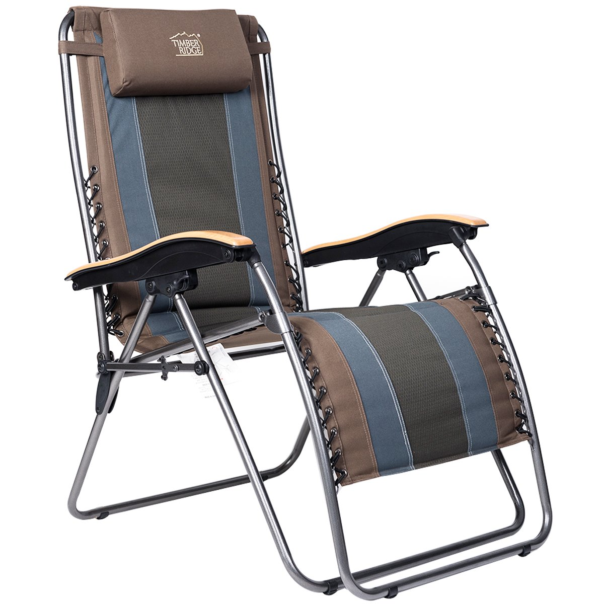 Timber Ridge Lounger Chair Zero Gravity Patio Oversize XL Padded Recliner Outdoor Support 350lbs