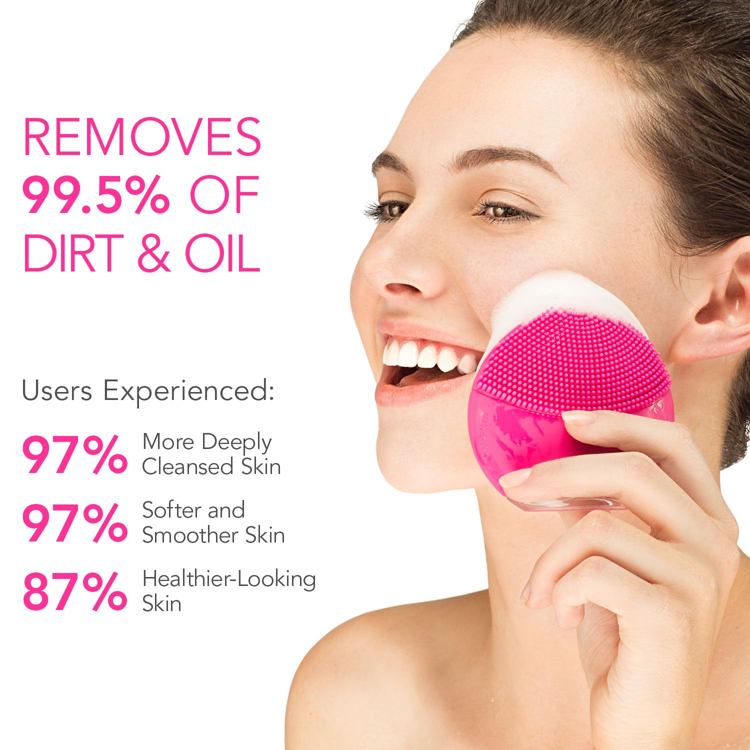 FOREO LUNA mini 2 Facial Cleansing Brush, Gentle Exfoliation and Sonic Cleansing for All Skin Types, Fuchsia by FOREO (Image #6)
