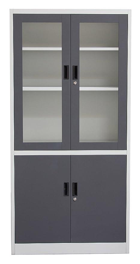 Amazon Diamond Sofa Fch2dg 4 Door Bookcase With Tempered Glass