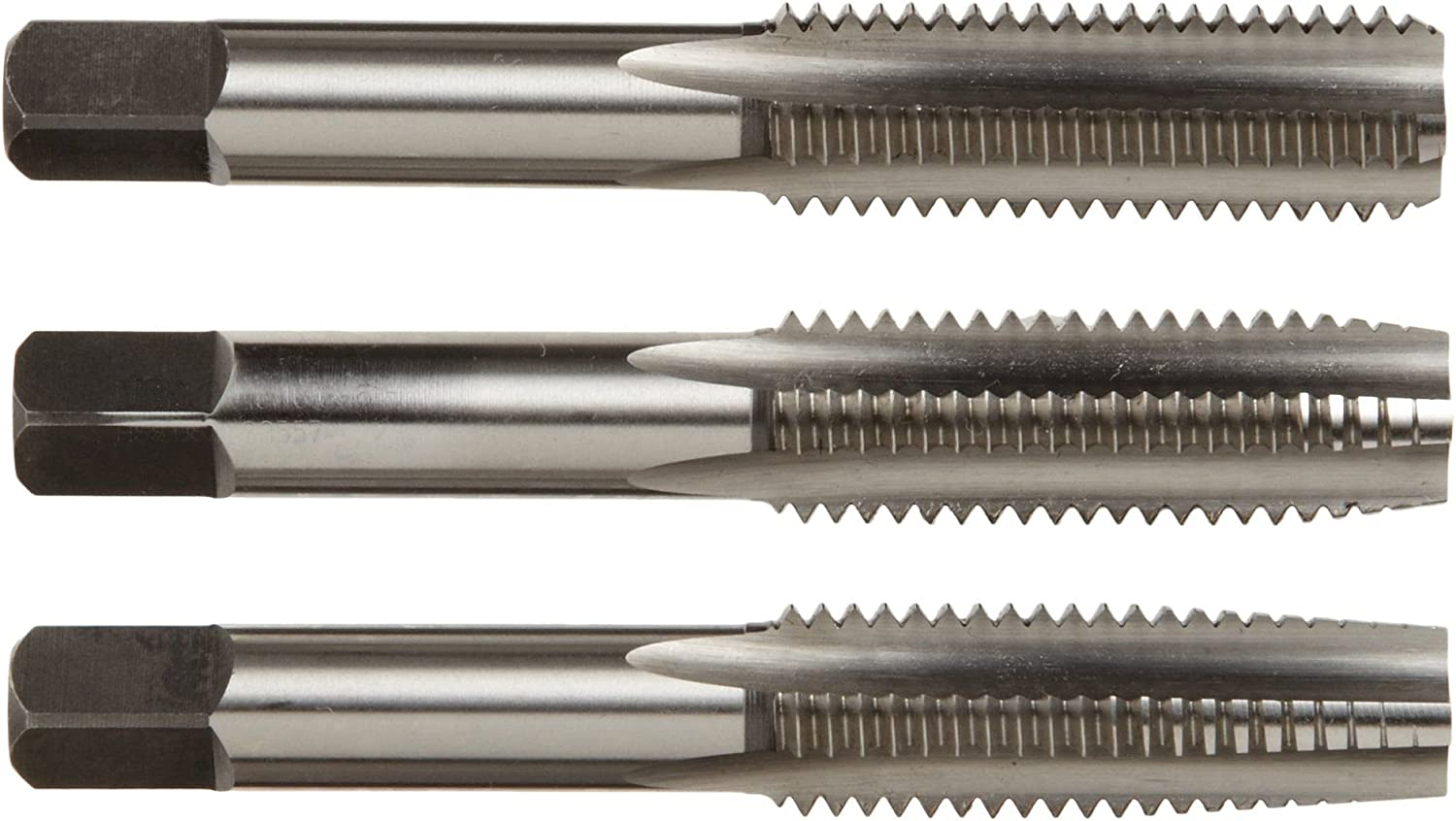 10-32 NF Carbon Steel Tap Set 3PC Taper Plug /& Bottom USA Made Irwin 2531