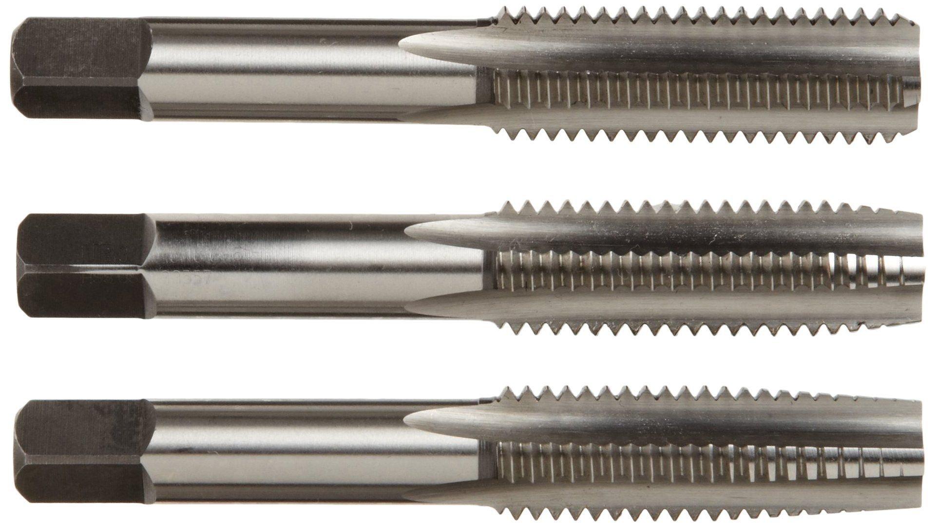 Alfa Tools CSHTS70533 1/4-28 Carbon Steel Hand Tap Set Taper/Plug/Bottom by Alfa Tools