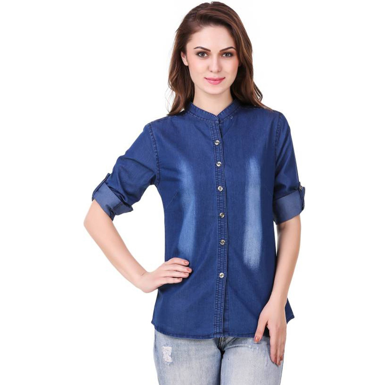 94215c00ca8 Dark Wash Womens Denim Shirt