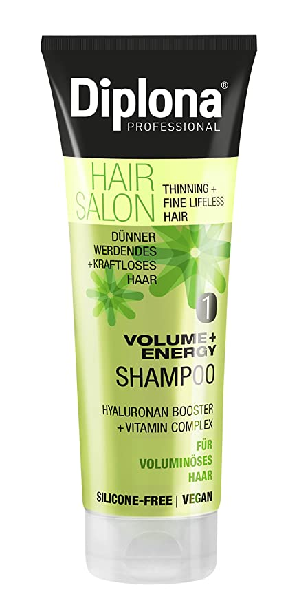 diplona Hair Salon Volume + Energy Champú, 3 Pack (3 x 250 ...