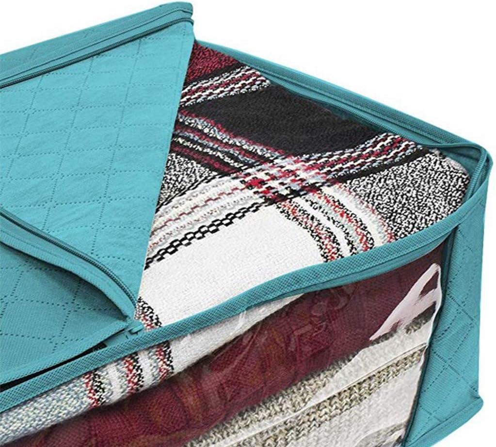 JIACUO Organizadores de Bolsas de Almacenamiento Plegables Ideal para Ropa Mantas Armarios Dormitorios