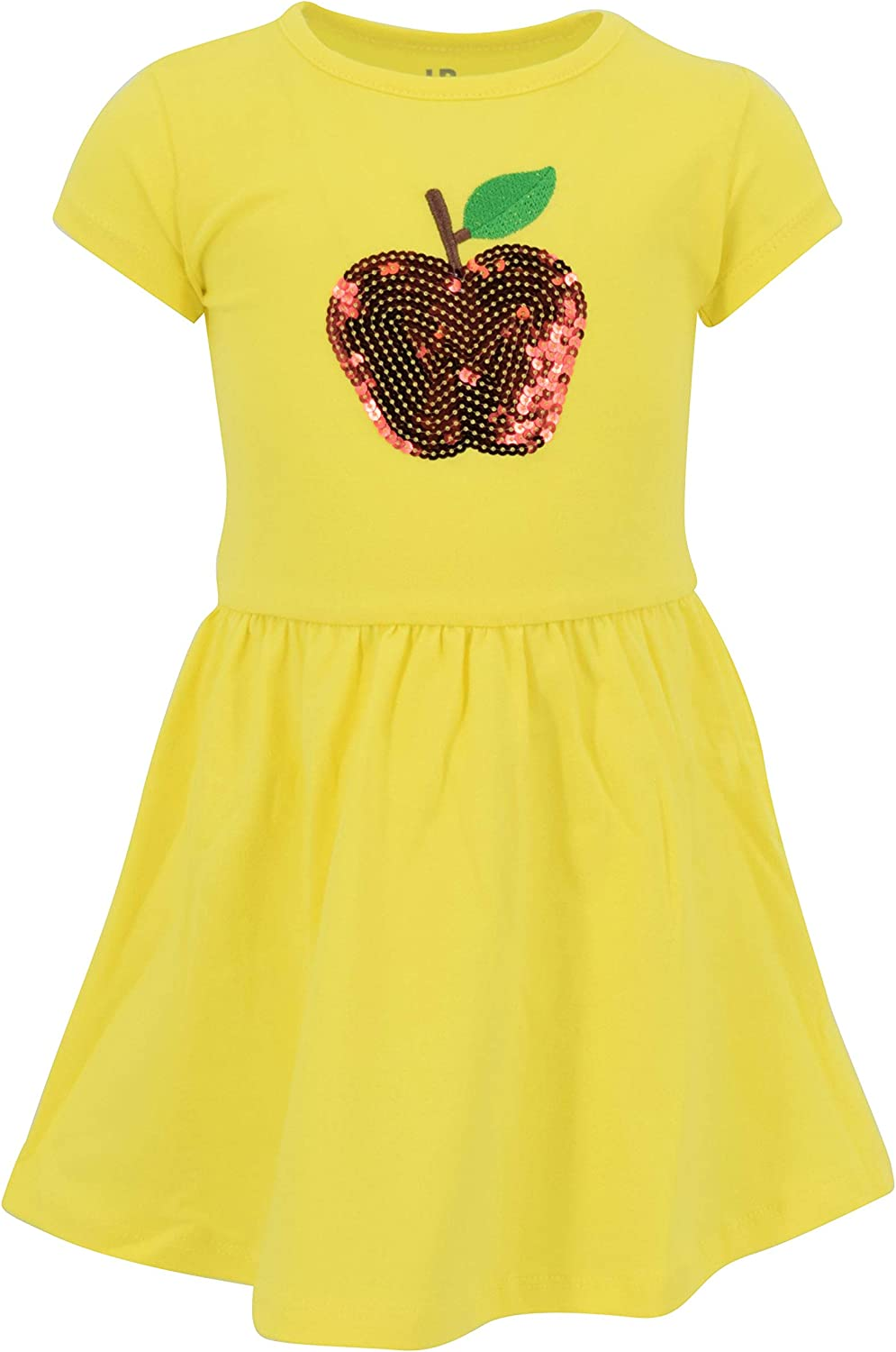 Unique Baby Girls Back to School Sequins Apple Dress Outfit