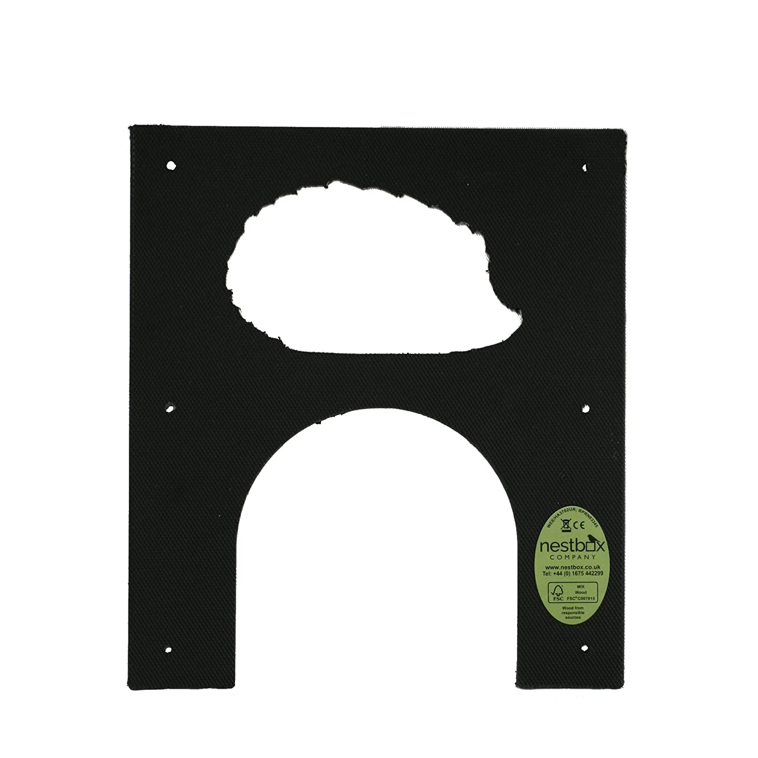 Nestbox Co Eco Hedgehog Hole Protection Plate for Fence or Wall