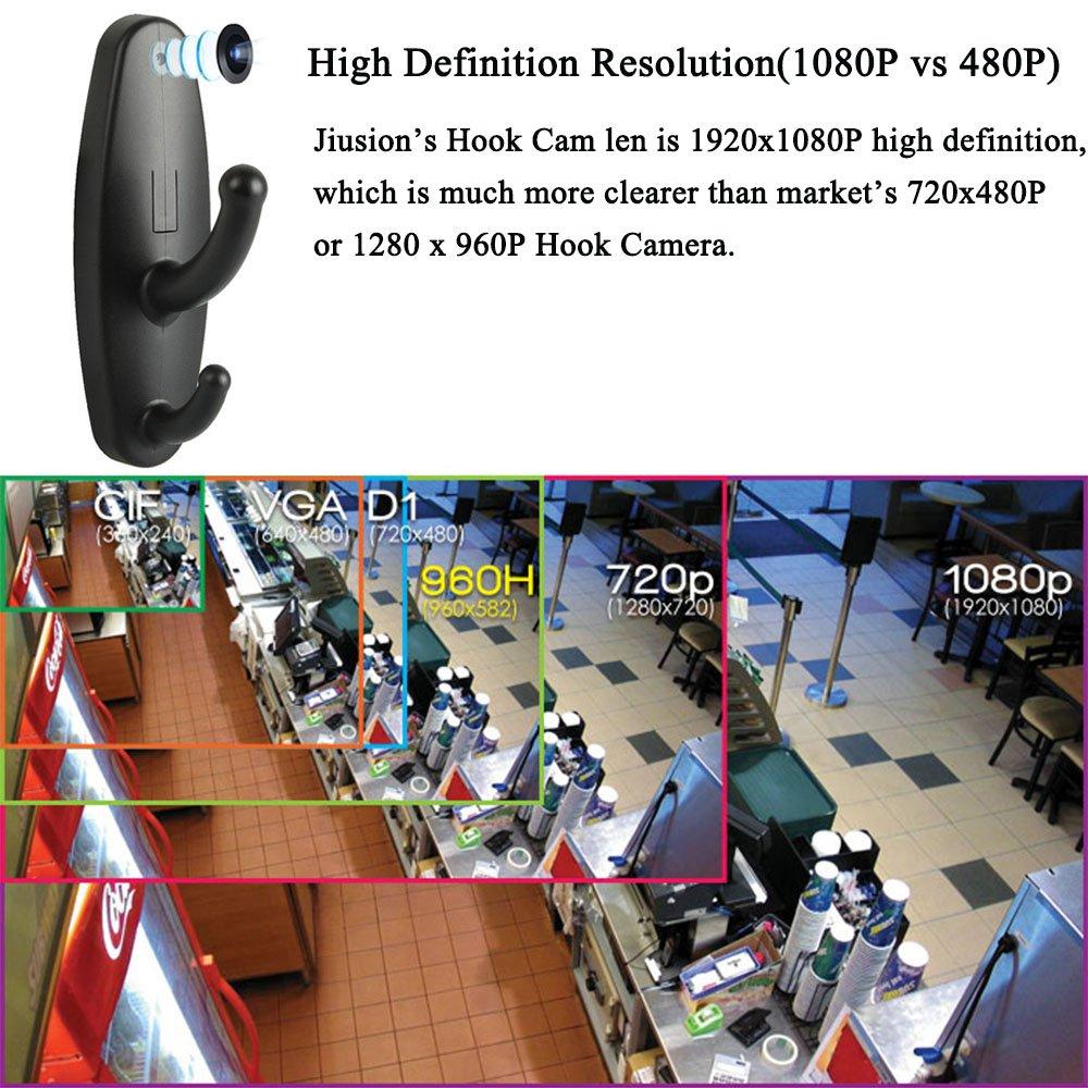 Jiusion Full HD 1080P cámara espía inalámbrica en Percha de Ropa, cámara Oculta con detección activada, Gancho para grabadora de vídeo Nanny: Amazon.es: ...