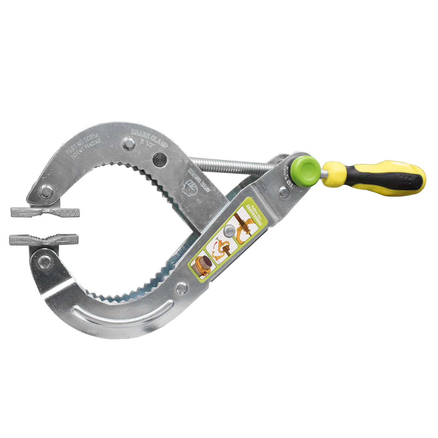 Strong hand Tools SC65A Shark Clamp with Straight Handle No Twist Clamp and 300-Pound Pressure with 6.5-Inch Opening