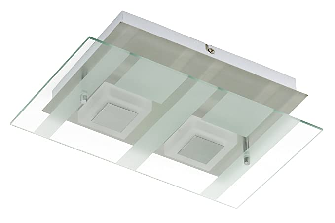 Moderne Lampen 5 : Briloner leuchten led wall light 2 x 5 w 400 lm matt nickel 3568 022