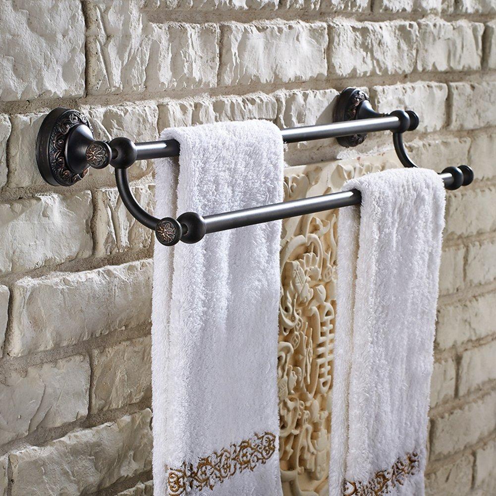 Européenne rétro antique noir cuivre salle de bain salle de bain serviette serviette serviette rack rack coup de poing-