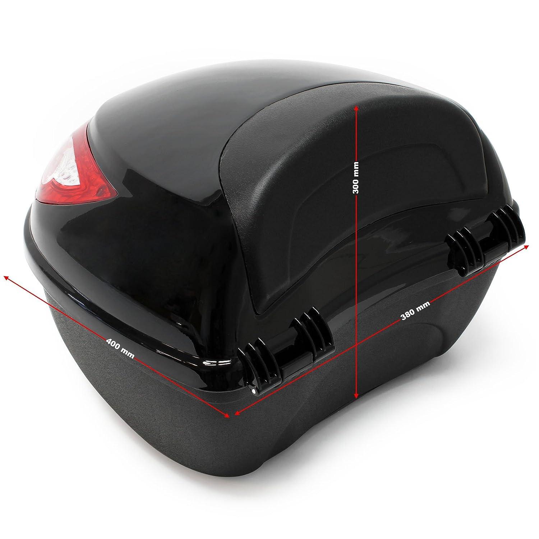 Maleta para moto Ba/úl mototcicleta 22L Negro Funda para casco Accesorios moto scooter quad ATV