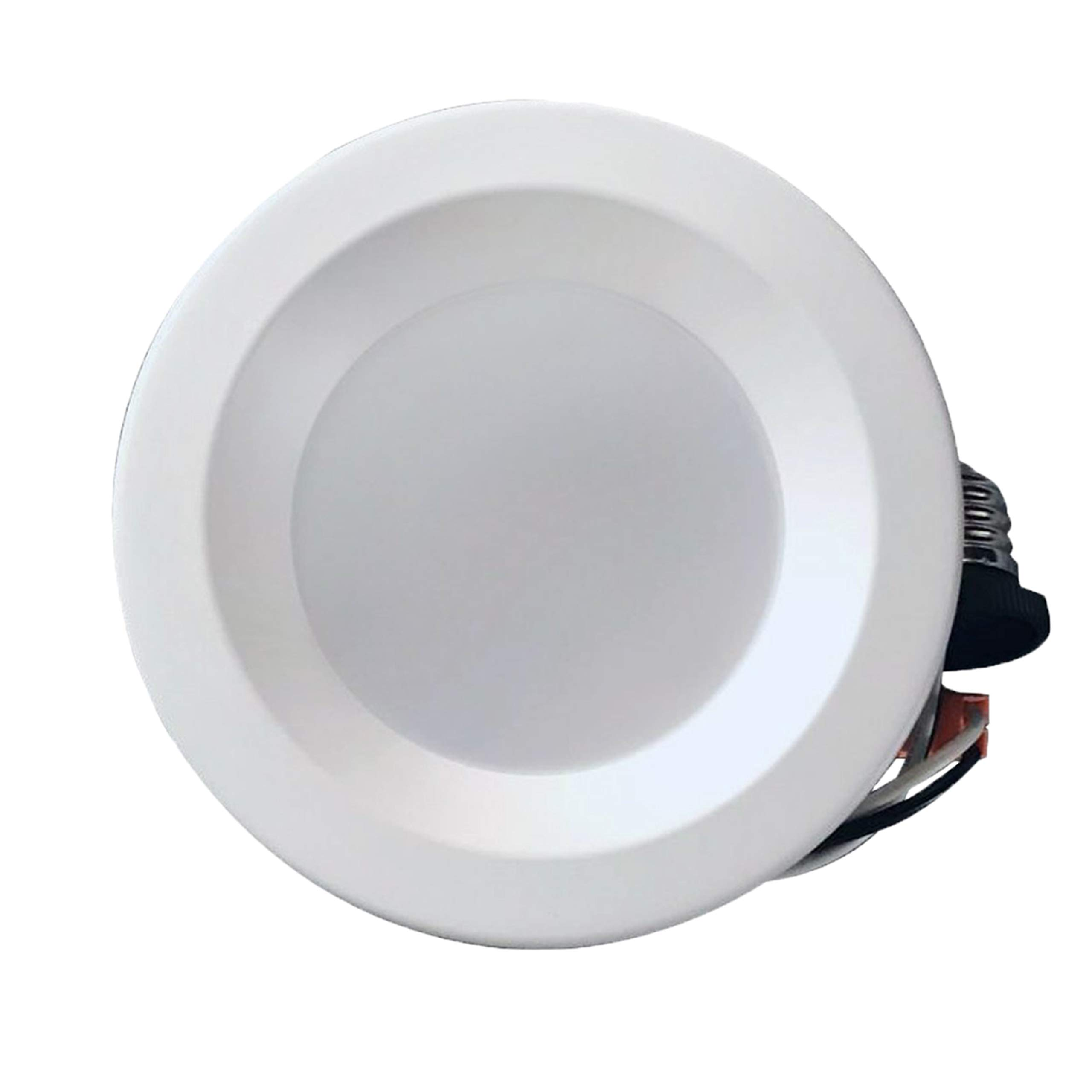 4'' Dimmable LED Downlight Smooth Trim, 540 Lumens, 4000K Cool White, Recessed Retrofit Lighting Trim, 9W (60W Replacement), Energy Star UL Listed,Title 24 JA8-2016 Compliant, 1 Pack