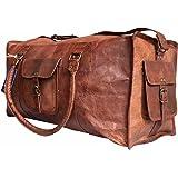 "Cool Stuff Cuir 24"" bagage à main sac de voyage bagage cabine sac de sport sac en bandoulière sac en cuir besace cabas en cuir marron"