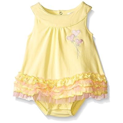 Petit Lem Baby Girls' Romper-Yellow
