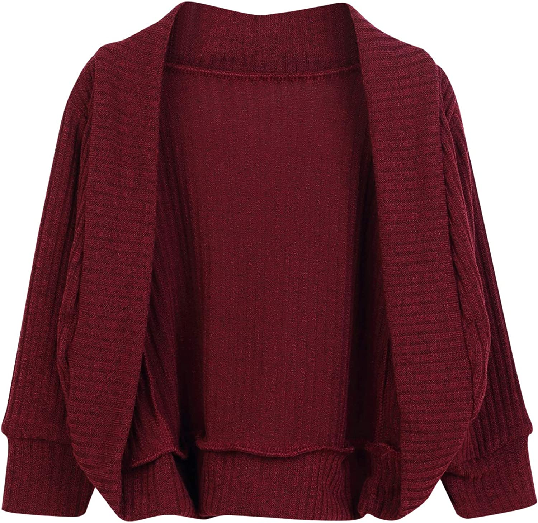 GRNSHTS Baby Girls Loose Long Sleeve Knit Sweater