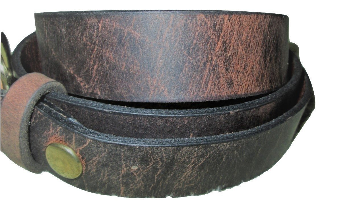 BELT * LEATHER * Worn Leather Look * 1-1/4