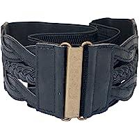 eVogues Braided Elastic Stretchy Retro Wide Waist Cinch Belt