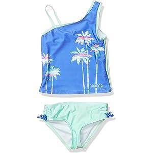 Sun Protection Tankini Swimsuit Nautica Girls Girls Tankini Swim Suit with 50