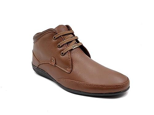 egoss Men Leather Ankle Shoes (EG 549