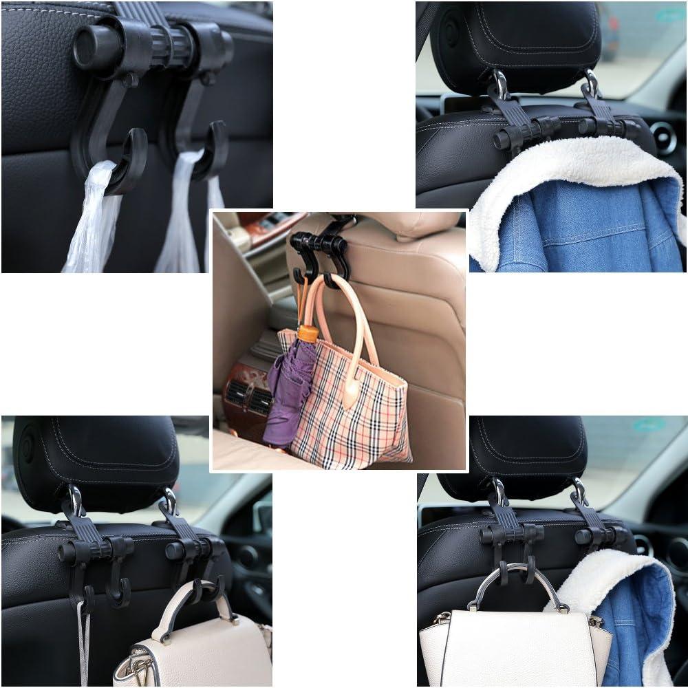 Ganci per poggiatesta del sedile auto supporto universale per borse della spesa e in tessuto 2 pezzi