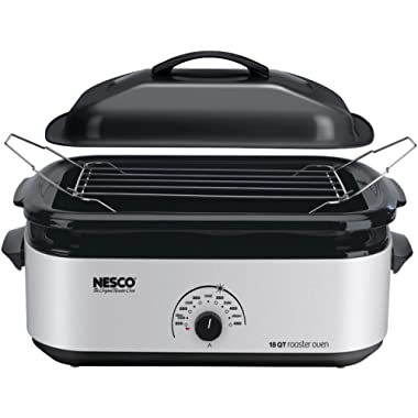 Nesco 4818-47 18 qt. Roaster Oven - Silver finish