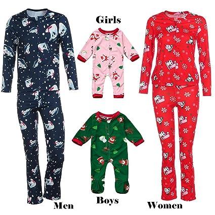 82e698aa4b7 WensLTD Family Matching Pajama Set Christmas Holiday Family Sleepwear  Pajamas (Adult Kid Toddler