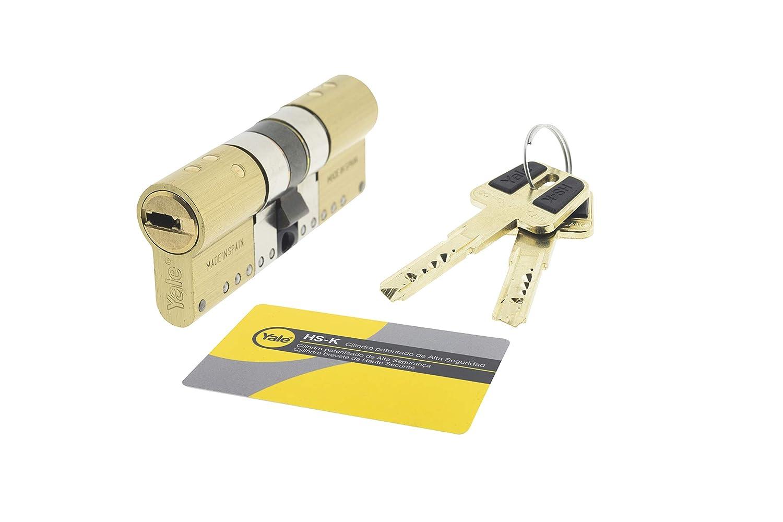 Latonado 30 x 30 mm HSKMOD3030L4 Cilindro de Alta Seguridad Llave Leva Larga HSK MOD Yale Doble Embrague Llave
